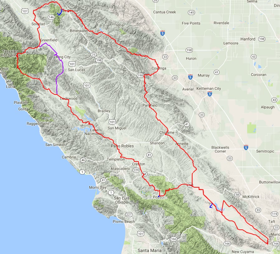Central California Wildflower Bike Tour Doing Miles