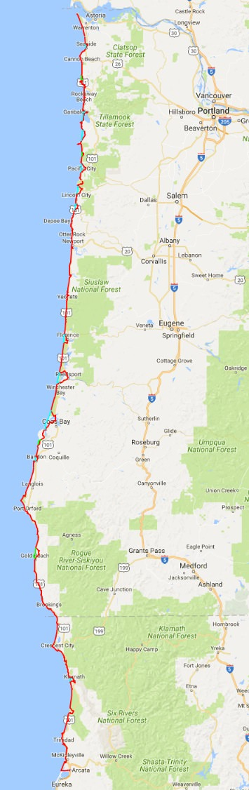 Oregon Coast Trail and more Doing Miles