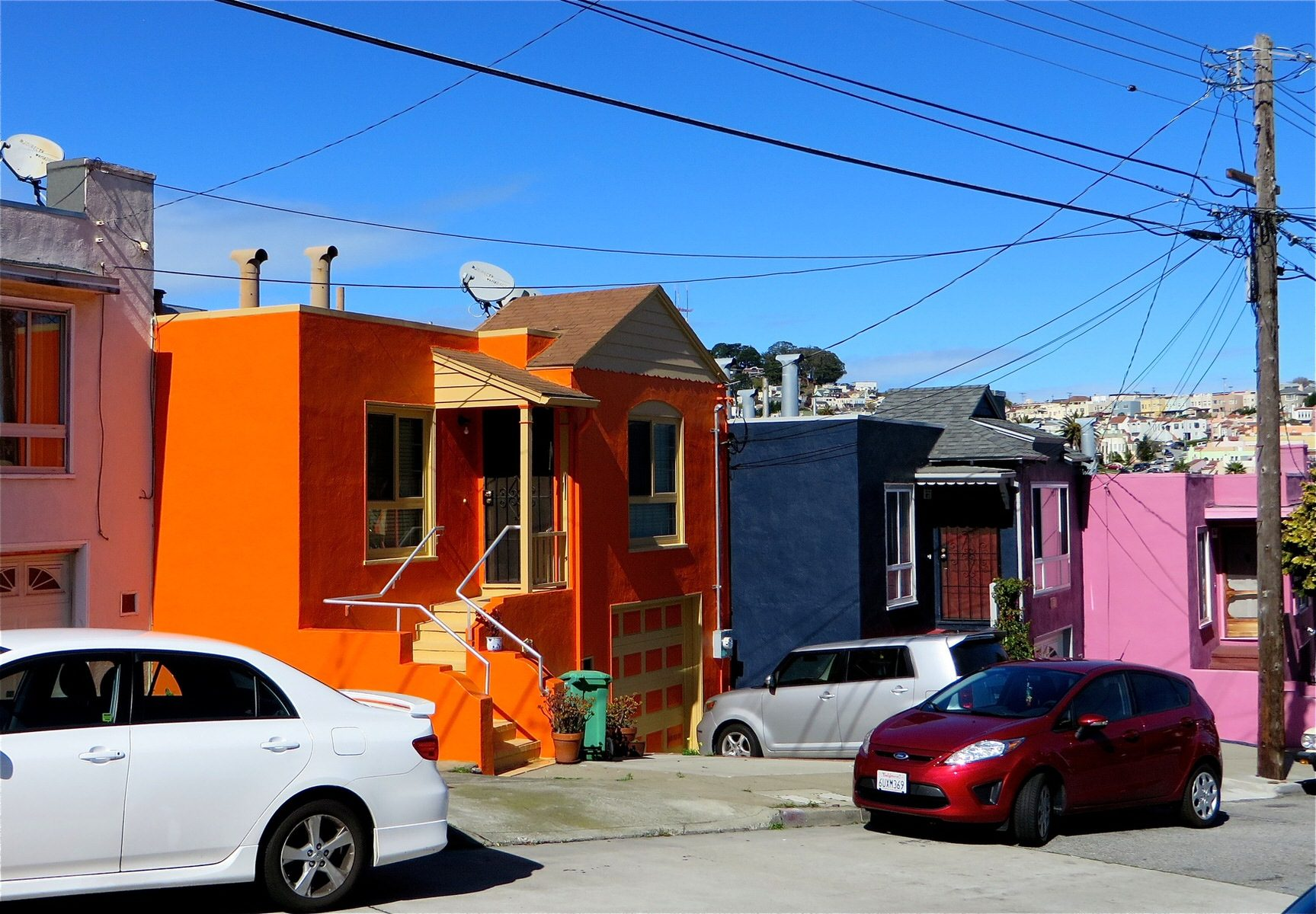 Blue Cafe On Mission In Bernal Heights